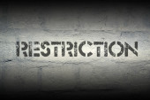 Restriction  — Stock Photo