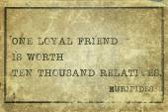 Loyal friend print — Stock Photo