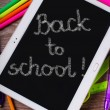 Back to school background with tablet pc — Stock Photo #52133893