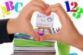 We love back to school — Stock Photo