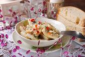 Herring salad for christmas — Stock Photo
