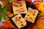 Funny sandwiches with mummy for halloween — Stock Photo