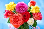 Bouquet of colorful roses — Stock Photo