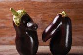 Two funny eggplants — Stock Photo