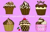 I love cupcakes — Stock Photo