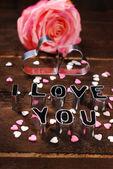 I love you-valantines card — Stock Photo