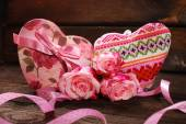 Hearts and roses  — Foto Stock