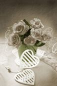 Bunch of roses in vintage style — Stock Photo