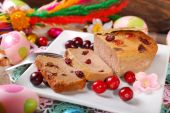 Goose pate with cranberries for easter — Stock Photo