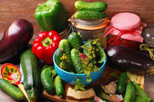 Vegetables ready for pickles — Stock Photo