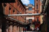 Old factory building on OFF Piotrkowska in Lodz — Stock Photo