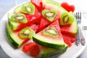 Love kiwi and watermelon — Stock Photo