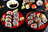 Sushi party table — Stock Photo