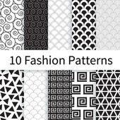 Fashion seamless patterns — Stock Vector