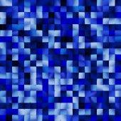Blue square mosaic — ストックベクタ