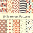 Seamless patterns — Stock Vector #60715439