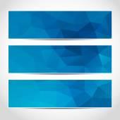 Conjunto de plantilla de moda banderas azules — Vector de stock
