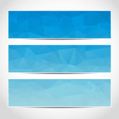 Set of trendy blue banners template — Vector de stock