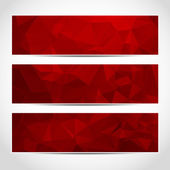 Set of trendy red banners template — Stock Vector