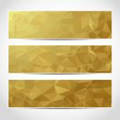 Set of trendy gold banners template — Stock Vector