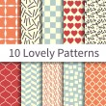 Lovely seamless patterns — Stock Vector #64169281