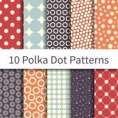 Polka Dot Geometric patterns — Stock Vector