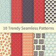 Trendy seamless patterns — Stock Vector #64170037