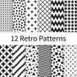 Retro seamless patterns — Stock Vector #64171119
