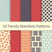 Trendy seamless patterns — Stock Vector