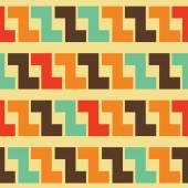Retro geometrik desen — Stok Vektör