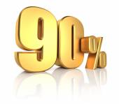 Gold 90 Percent — Stock Photo