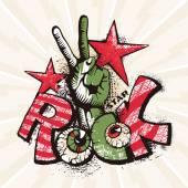 Grunge rock poster — Stock Vector