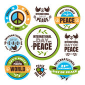 International Day of Peace labels — Vector de stock