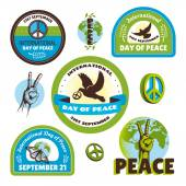 International Day of Peace labels — Vettoriale Stock