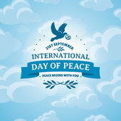 International Day of Peace — Stock Vector