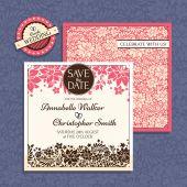 Bloemen bruiloft kaart — Stockvector