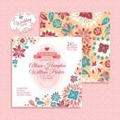 Floral wedding card — Stock Vector