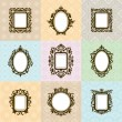 Set of vintage frames vector illustration — Stock Vector #67673291