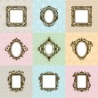 Set of vintage frames vector illustration — Stock Vector #67673331