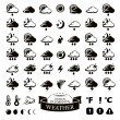 Collection of different weather icons — Stock Vector #71255487