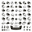 Collection of different weather icons — Stock Vector #71255493