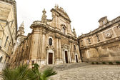 MOMOPOLI, ITALY - 25 june 2014: Basilica catterdale Madonna della Madia in Monopoli. — ストック写真