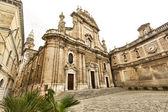 MOMOPOLI, ITALY - 25 june 2014: Basilica catterdale Madonna della Madia in Monopoli. — Stock Photo