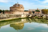 Castle of the Holy Angel in Rome — Stock Photo