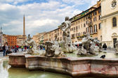 Piazza Navona is a popular destination in Rome. — Stock Photo