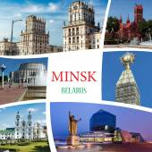 Collage of photos from Minsk. Belarus — Stock Photo