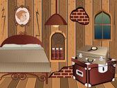 Cartoon interior - attic — ストックベクタ