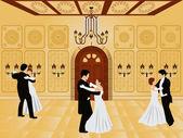 Cartoon interior - ballroom — ストックベクタ