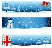 Winter background 3 — Vetor de Stock