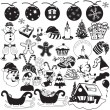 Christmas black icons — Stock Vector #60027433